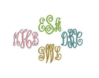 Script Machine Embroidery Font, Fancy Embroidery Font Monogram Alphabet Letters