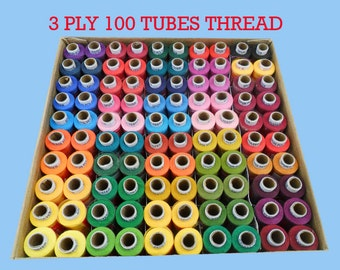 sewing stitching  3 ply Thread 100 spool supplies for Craft assorted colors for dressing supply