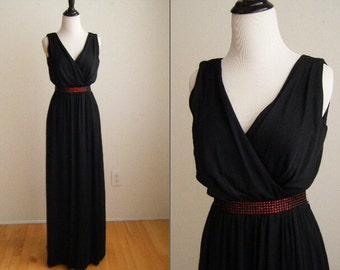 Vintage 1970's Black Evening Gown by Jack Bryan