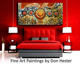 ORIGINAL PAINTING Impasto abstract painting, Original Modern Abstract, Large 24x48 heavy texture, home or office, HesterPainting
