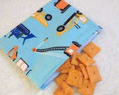 Construction Vehicles Snack Bag