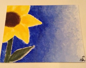 Sunflower Flat Canvas Painting