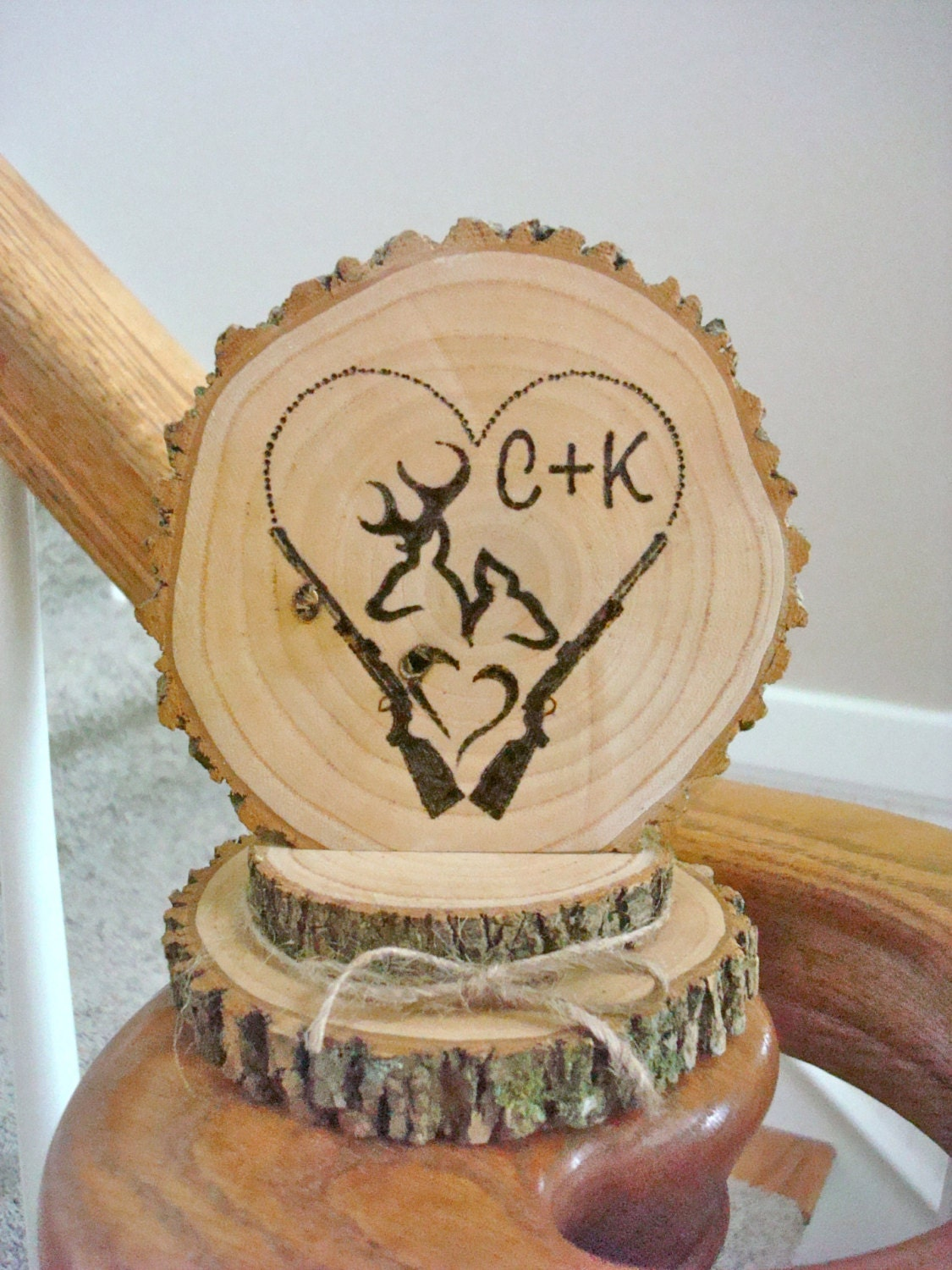 rustic wood wedding cake toppers rustic wedding cake topper personalized wood deer 19600