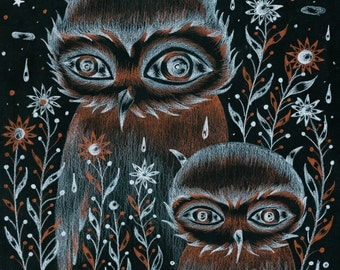 OWLS ' GHOSTS (limited edition print) 2/30