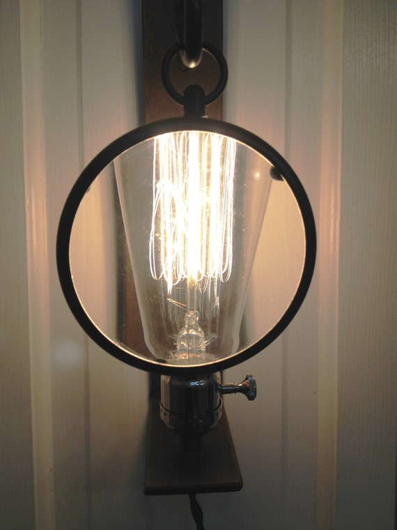 Wall Sconce With Magnifying Glass : The Nicky Magnifying Glass Wall Sconce