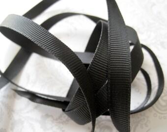 Black Grosgrain Ribbon 3/8 -- 3 yards -- 9.5mm