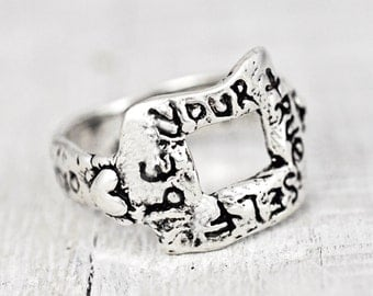Be Your True Self Ring - Inspirational Jewelry -Romantic Jewelry - R305