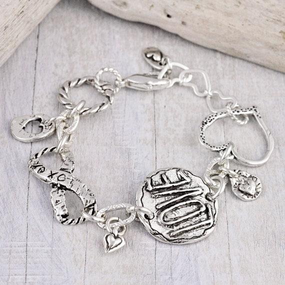 Love Always Bracelet - Inspirational Jewelry- Handmade Jewelry- Heart Romantic Jewelry - B343
