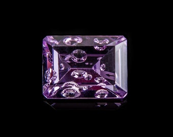 10.3 Ct Natural Brazilian Purple Amethyst Gemstone Bubble Octagon Size 16x12 mm
