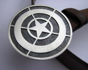 Captain America Inspired Stealth Shield Metal Belt Buckle