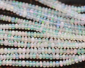 Ethiopian Opal Smooth Rondelles, 4.5 - 5 mm, 3.5 inches GM2403SR/5/2