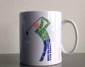 Northern Ireland golf mug