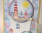 Seaside Card, Sunny Days - To a very special boy,  Handmade