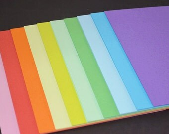 100pcs (10 colors) Rainbow Colors Both-side Folding Paper Pack for Origami Paper Crane Folding - 15cm X 15cm