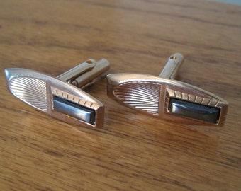 Vintage cufflinks.  Marcasite or hematite.  Mens jewelry.  Bridal.  Wedding.