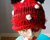 Minnie Mouse Roll Brim Pom Pom Hat ~ Made to Order