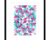 Printable Art Sparkling Geometric 8x10