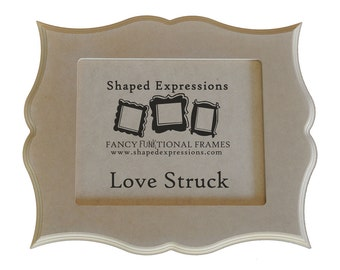 8x10 unfinished curvy picture frame - Love Struck