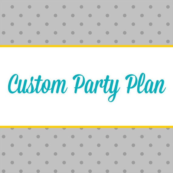 Custom Children's Party Plan: A Step-by-Step Guide to Making Your Party Theme a Reality + 10% off Party Supplies Coupon