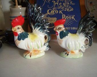 Rooster, Hen, Ceramic Figurines