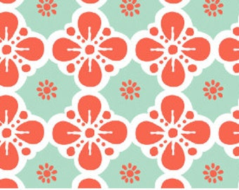 Clover in Mint - Maisie by Maude Asbury for Blend Fabrics - 101.111.04.3 - 1/2 Yard