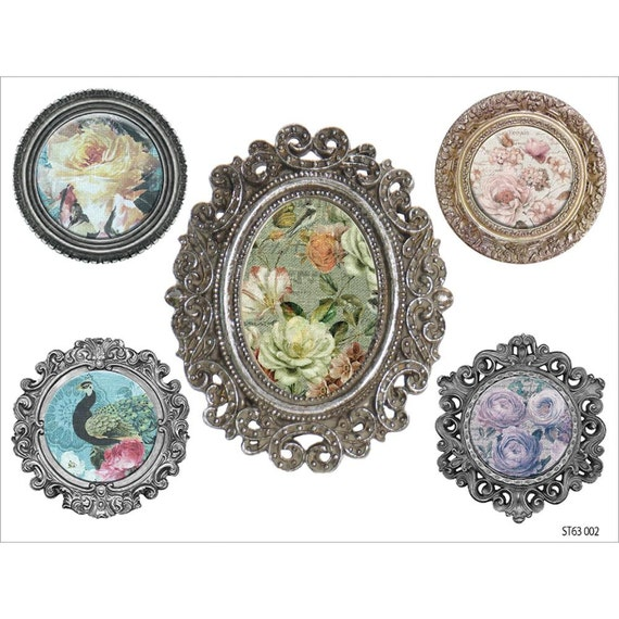 Fabscraps - French Heritage Collection - Clear Stickers