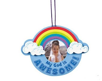6 God Is Awesome Picture Frame Craft Kits