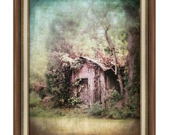 Abandoned Old Shed Barn Rural Country Dreamy Landscape Architecture Scene Fine Art Photography Print