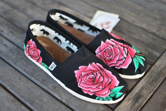 Custom Hand Painted Rose Toms