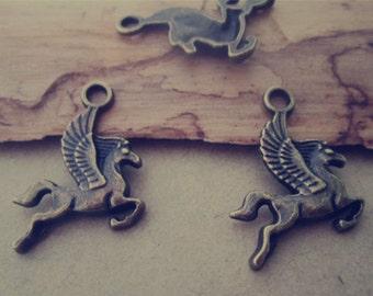 30pcs of Antique bronze horse  pendant Charms 15mmx20mm