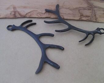 10pcs black color deer antlers charm  pendant 18mmx60mm