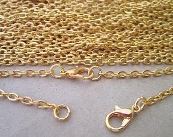 "10pcs 70cm Gold color "" o"" shape Link  chain 3mmx4mm"