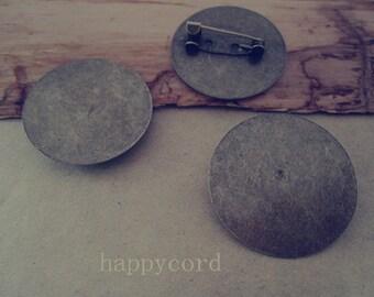 20pcs 30mm antique bronze Brooch Pin Backings