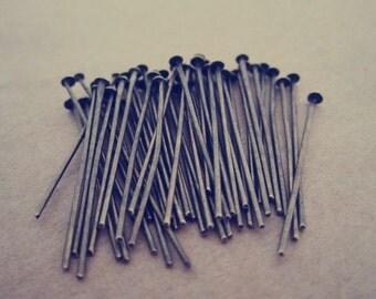 200 pcs  Antique Bronze head pins 35mm