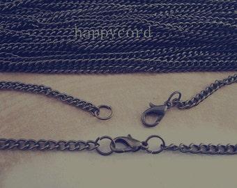 10pcs 70cm antique Bronze necklace chain 2mmx3mm
