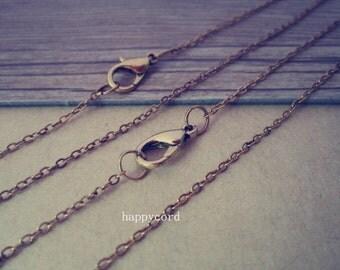 """20pcs  1.5mm 19 inches antique gold color  (copper) """" 0"""" shape Link  chain"""
