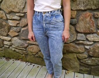 Vintage Acid-Washed Jeans
