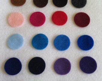 100 Pre Cut Felt Circles - 2 inches - you choose colors
