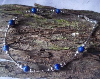 Lapis lazuli & sterling silver bracelet