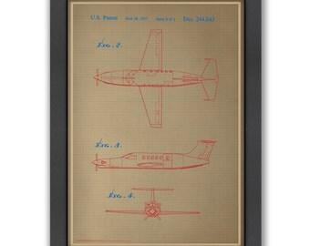 Airplane III Blue Print, 100% Original Design from Flatiron Design