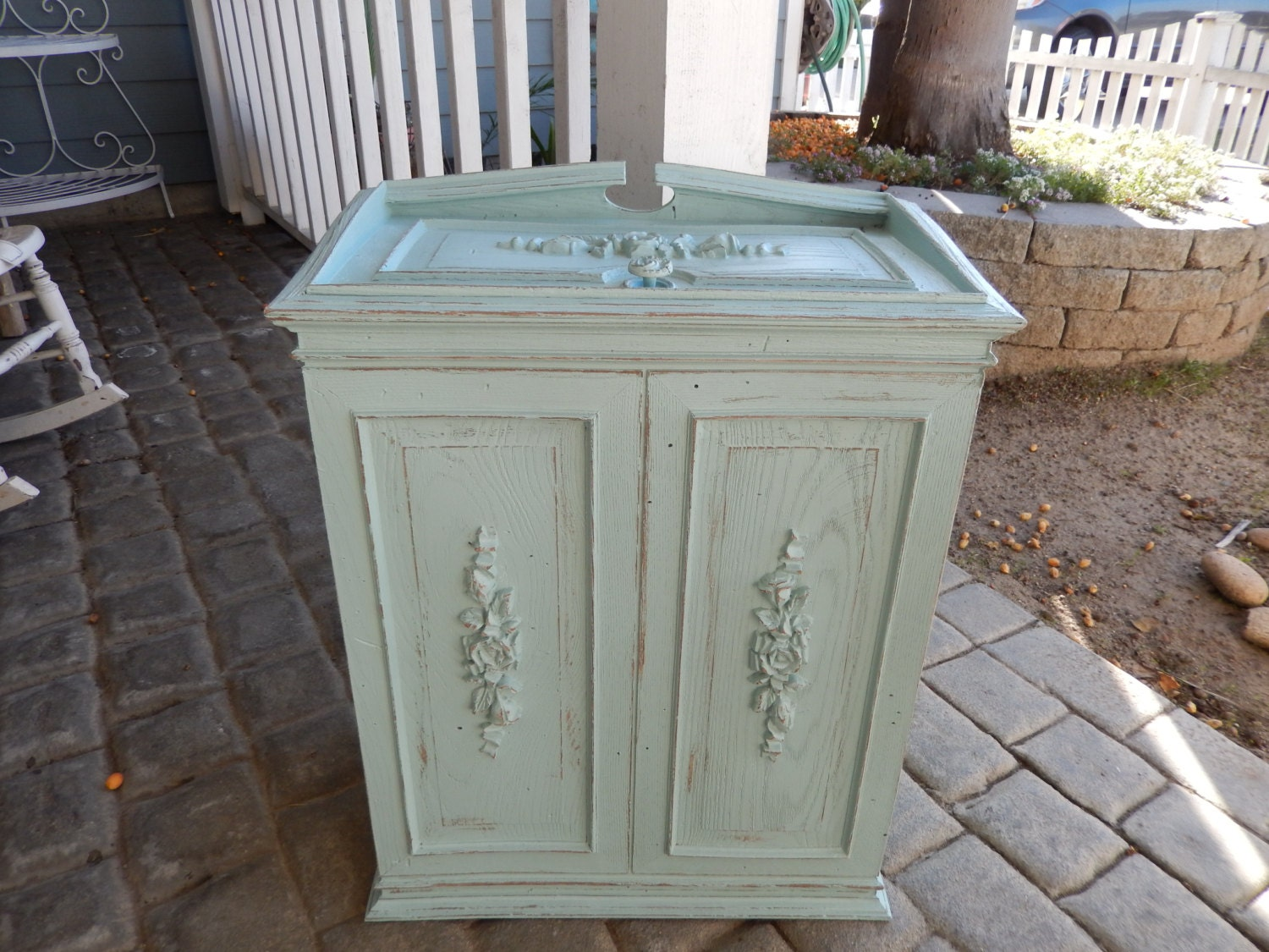 Detecto Metal Laundry Hamper: Clothing Hamper From The 1970s Repainted In Tiffany Blue