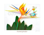 Two Birds of Paradise signed  11x14 Fine Art Print