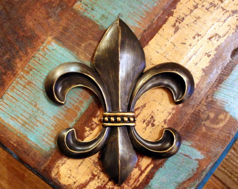Fleur De Lis Wall Decor Rustic Distressed By