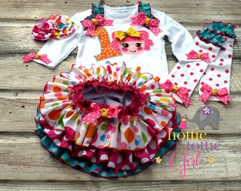 Lalaloopsy Inspired Birthday, Ruffle Bloomer, Lalaloopsy Dress Pageant Lalaloopsy Theme Party, Baby Toddler Hottie Tottie Girl