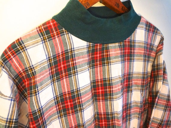 vintage plaid flannel shirt women punk holiday by