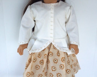 "American Girl 18"" doll  clothes -Felicity Style Caraco Blouse and Gathered Skirt"