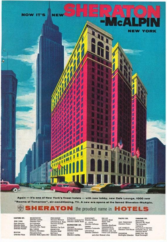 Sheraton McAlpin Hotel New York City Ad From 1957
