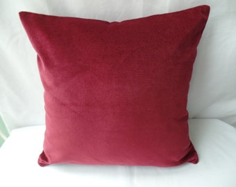 "Modern retro 16"" burgandy, deep red, wine cushion cover, scatter cushion, pillow case"