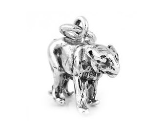 Sterling Silver Prowling Panther Charm (3d Charm)