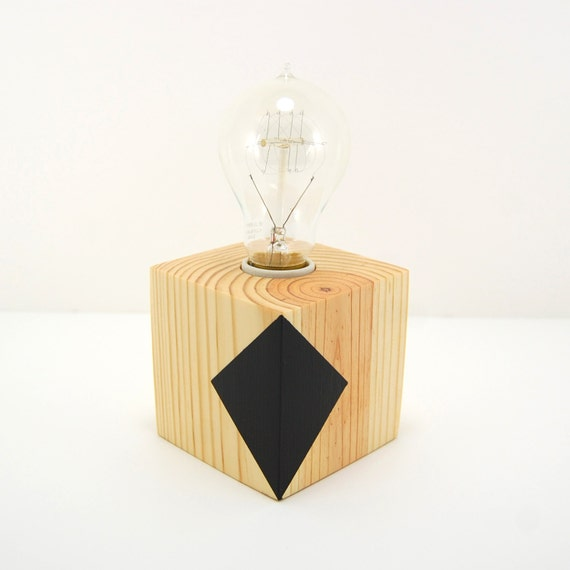 modern table lamp geometric lamp desk lamp by electriclightco. Black Bedroom Furniture Sets. Home Design Ideas